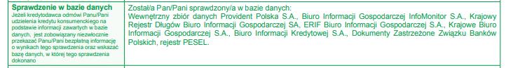 Obraz przedstawiający, jakich sprawdzeń dokonuje firma Provident Polska S.A.