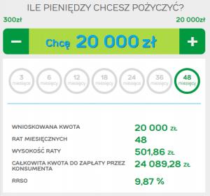 Obraz przedstawiający jaką kwotę pożyczki można dostać w Providencie.