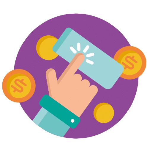 Ikona przedstawiająca pożyczki online.