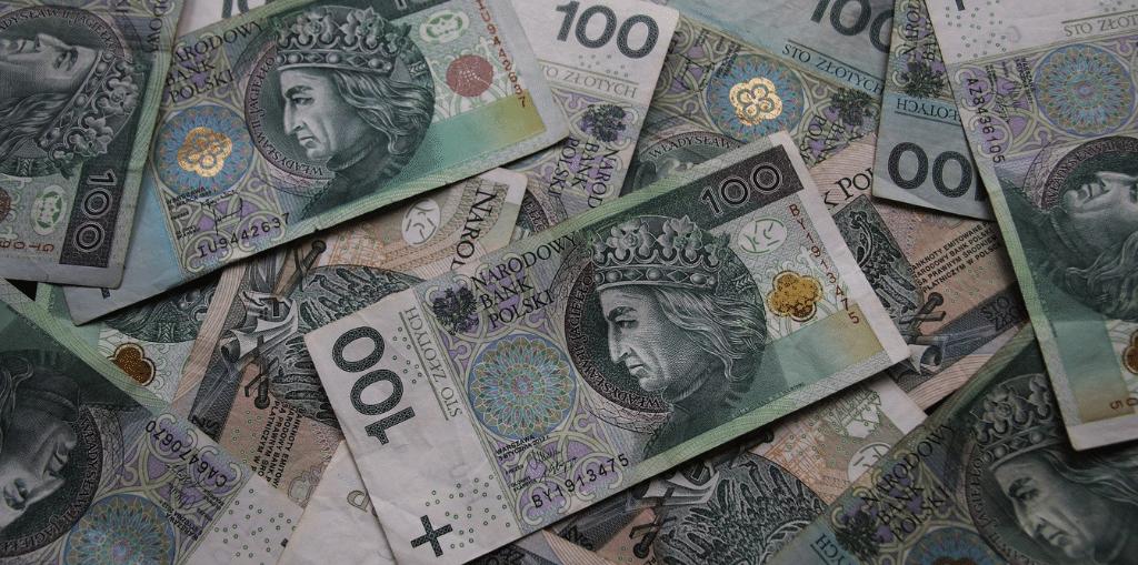 Obraz przedstawiający uszkodzony banknot.